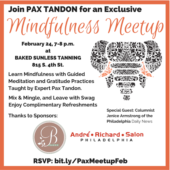 Mindfulness Meetup February 24 Invite