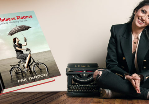 """Author, Pax Tandon, and her book """"Mindfulness Matters"""""""